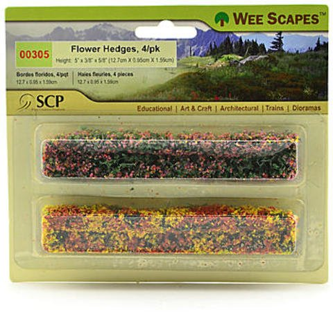 Wee Scapes Architectural Model Flowers & Hedges - Flower Hedges - Green Blossom 2 pcs sku# 1848343MA