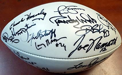 b6f809c26 Super Bowl MVP s Multi Signed Signed Football With 16 Signaures Including  Joe Namath Steve Young and