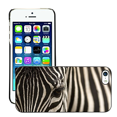 Hülle Case Schutzhülle Cover Premium Case // V00002198 Zebra // Apple iPhone 5 5S 5G