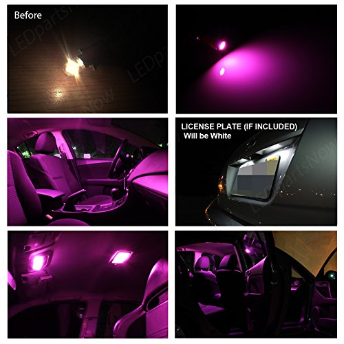 Amazon.com: LEDpartsNow Toyota TACOMA 2005 2015 Pink Premium LED Interior  Lights Package Kit (7 Pieces): Automotive