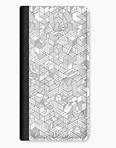 Geometric Black & White Blocks iPhone 5c Leather Flip Case hjbrhga1544