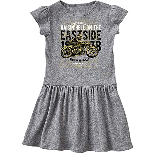 inktastic - Raisin Hell Moto Racer Toddler Dress 4T Heather Grey 2c4fc (Raisin Girl Infant)