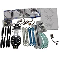 QWinOut 500mm Multi-rotor Air Frame Kit S500 with Landing Gear + ESC + Motor + QQ Super Control Board + Carbon Fiber Pros