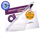 (Ship From USA) Qty 200 Large Menu Laminating Pouches 12 x 18 Hot 3 Mil Laminator Sleeves / Only Oregon Laminations Offers Authentic Oregon Lamination Premium Laminating Pouches via AMAZON,12' x 18'