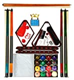 Mahogany Finish Billiard Pool Table Accessory Kit Art # Marble Ball Set