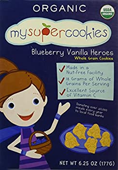 MySuperSnacks MySuperCookies Cookies - Blueberry Vanilla Heroes - 6.25 oz