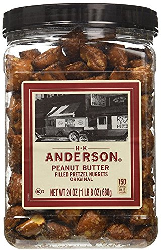 - HK Anderson Peanut Butter Filled Pretzel Nuggets (24 Oz. Container)