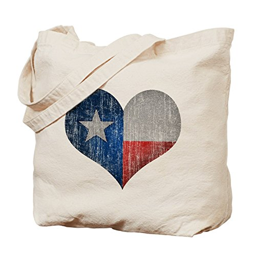 CafePress - Faded Texas Love - Natural Canvas Tote Bag, Cloth Shopping - Houston Shopping Texas