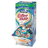 Coffee Mate Sugar Free French Vanilla Liquid - 50 count per pack - 4 packs per case.