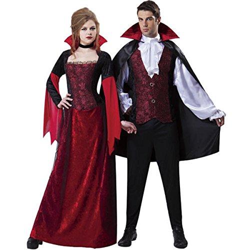 Female Disney Villains Costumes (Darkness Vampiress ~ Crushed Velvet Dress ~ Womens ~)