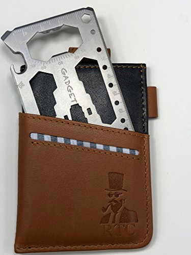 RTC Minimalist slim wallet with 40 in 1 multi tool, idea front pocket EDC credit card holder, RFID blocking
