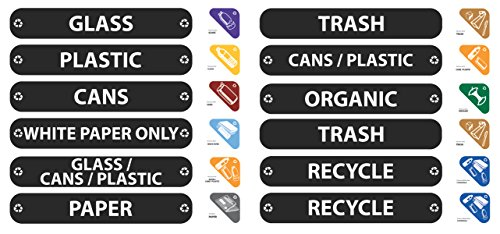 Rubbermaid Commercial RCP1792975 Recycle Label Kit 44 Labels