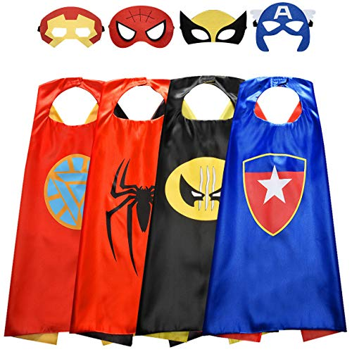 Roko Outdoor Toys for 3-10 Year Old Boys, Fun Cool Super Hero Capes Costumes for Kids Christmas Birthday Presentschristmas Xmas Stocking Stuffers