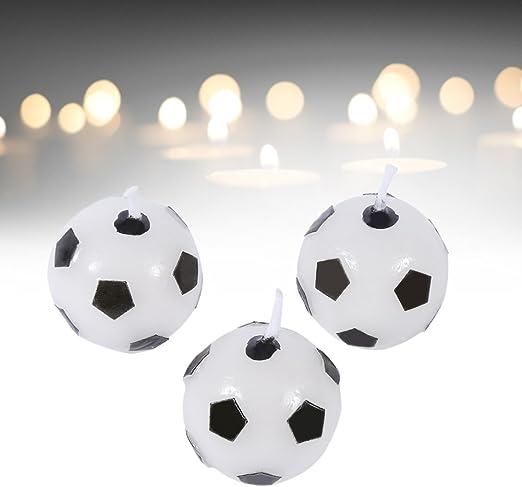 3 velas para tarta de cumpleaños, diseño de balón de fútbol, ideal ...