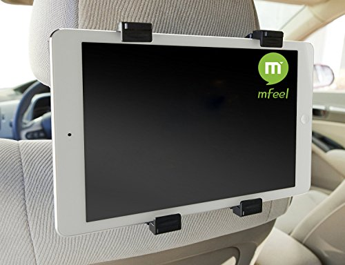 Mfeel Universal Car Back Seat Headrest Mount Holder with 360 Degree Adjustable Rotating Travel Car Kit for Apple Ipad 2/3/4 Tablet Pc GPS Ipad 4 / Ipad 3 / Ipad 2 Car Headrest Mount Holder-Save 3.00