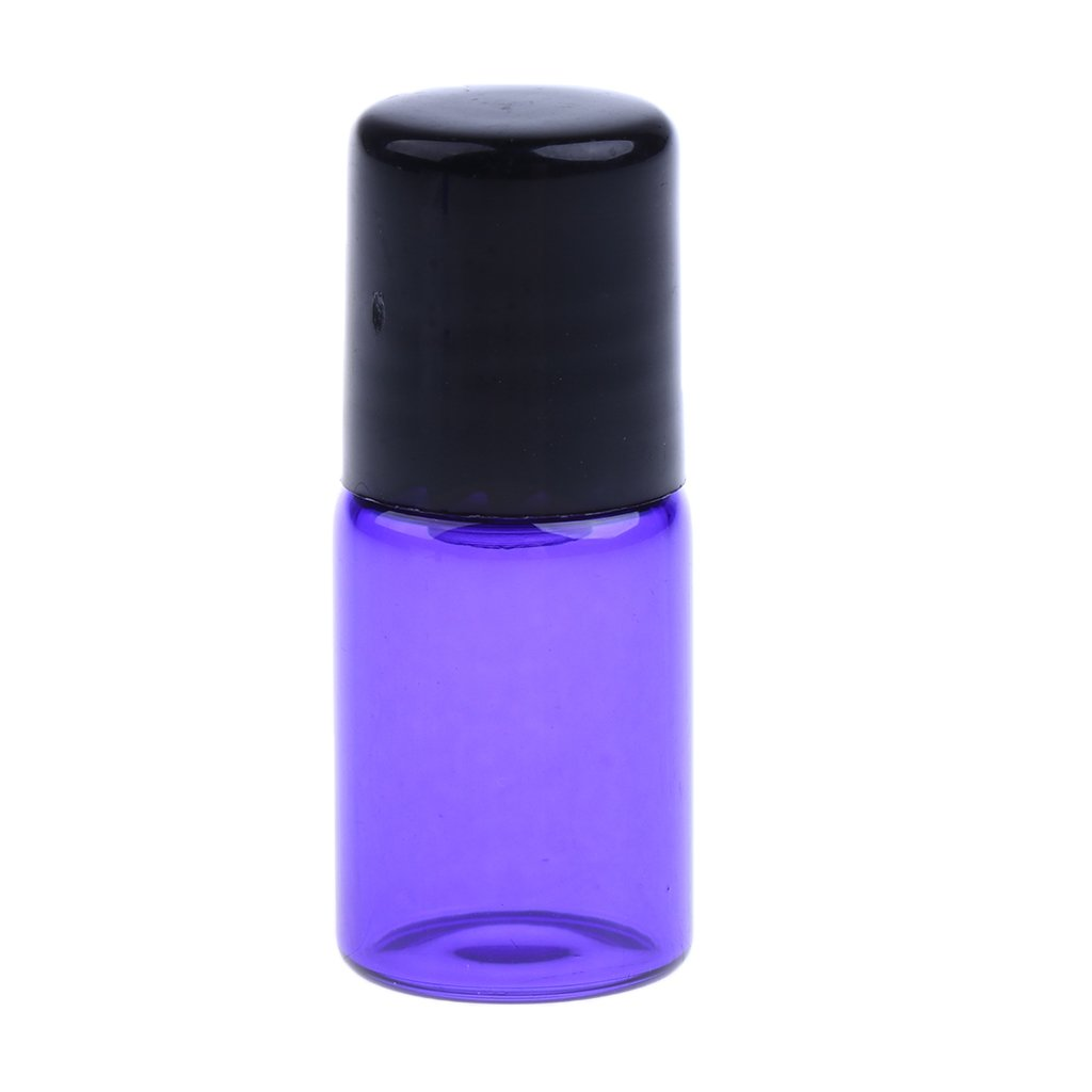 Homyl 20 piezas de Botellas de Vidrio para Aceite Suero Aromatherapy Laboratorios Maquillaje Belleza - Púrpura 2ML: Amazon.es: Belleza
