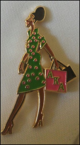 Alpha Kappa Alpha Sorority Lady Diva Lapel Pin