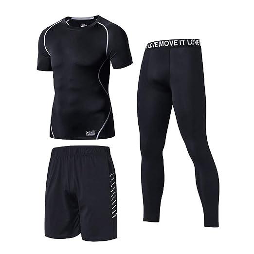 Traje de fitness de los hombres Hombre Medias y camisas de ...