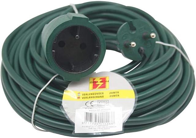 Alargador Cable alargador Jardín 20 metros verde: Amazon.es ...