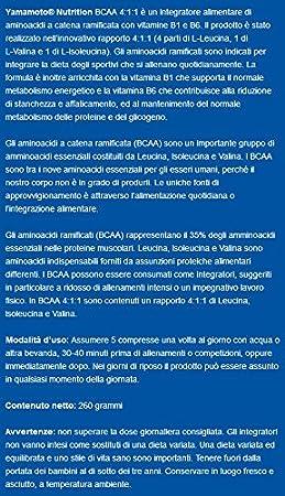 Yamamoto Nutrition BCAA 4:1:1 Suplemento Dietético - 200 Tabletas: Amazon.es: Salud y cuidado personal