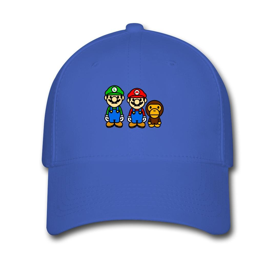 cb983281886 Baby Milo Bape Mario Top Sale Royal blue Julia Pidtikanila Cap Hat   Amazon.ca  Clothing   Accessories