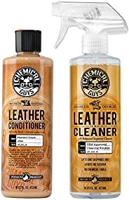 Chemical Guys SPI_109_16 Leather Cleaner and Leather Conditioner Kit for Use on Leather Apparel, Furniture, Ca