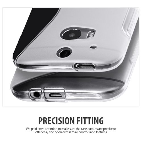 Cimo [FLEX GEL] HTC One M8 Case Premium TPU Ultra Slim Fit Cover for The All New HTC One / HTC One 2 / HTC One 2014 (2014) - Clear