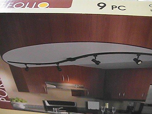 9 Piece Customizable Rail Kit, Black Finish by Portfolio