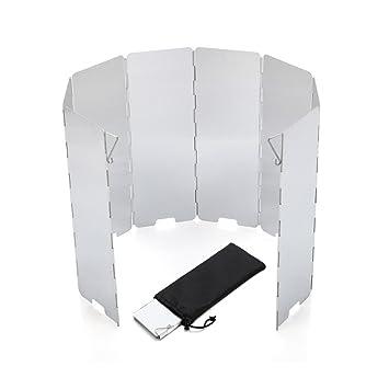 EBILUN Quemador Plegable Portátil de 8 Placas de Aleación de Aluminio para Exteriores, Camping,