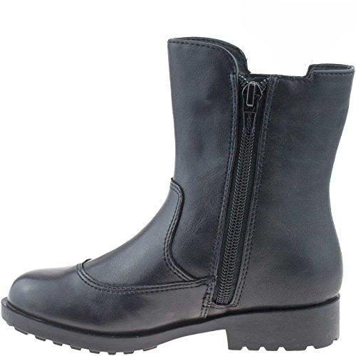 Lelli Kelly LK5816 (CB52) Nero Pellie Rosa Pollie Leather Boots-27 (UK 9)