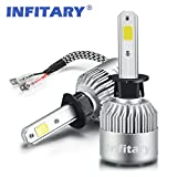 Automotive : Infitary LED Headlight Bulbs H1 Conversion Kits Car LED Headlights 72W/Pair 6500K 8000LM Extremely Super Bright COB Chips- 1 Pair-3 Year Warrenty