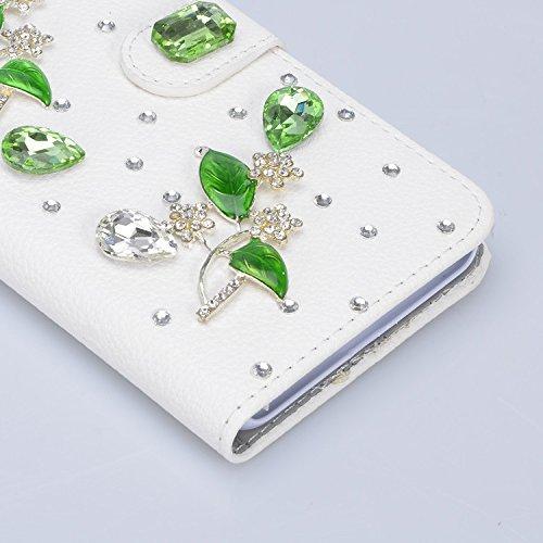 Samsung Galaxy S8 Hülle, Vandot 3D Bling Diamant Handgefertigt Handyhülle für Samsung Galaxy S8 G9500 Schutzhülle PU Leder Stand Bookstyle Case Cover Strass Bling Kristall Handytasche BOOK Brieftasche Diamant 26