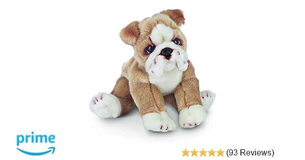 Amazon Com Bearington Tug Bulldog Plush Stuffed Animal Puppy Dog 13
