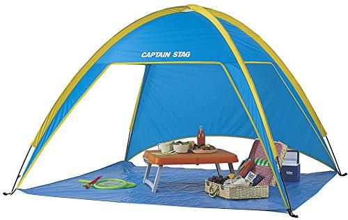 回転独特の戻すキャプテンスタッグ(CAPTAIN STAG) プリズムビーチ テント ブルー[1-2人用] M-3122