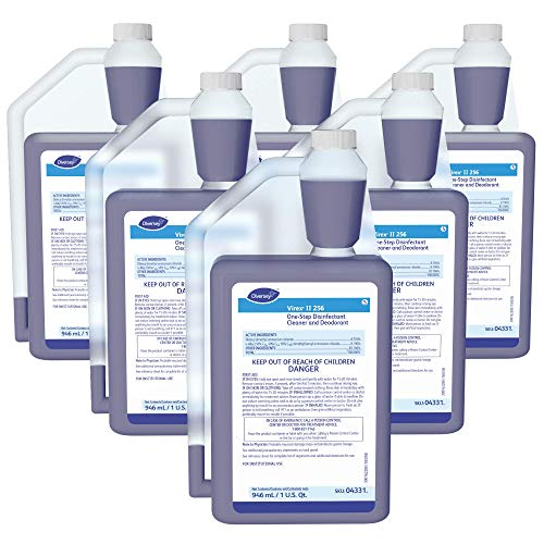 Diversey Virex II 256 Broad Spectrum Disinfectant (32-Ounce, 6-Pack)