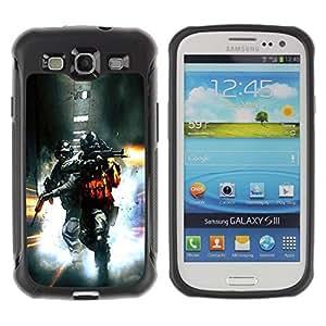 Suave TPU GEL Carcasa Funda Silicona Blando Estuche Caso de protección (para) Samsung Galaxy S3 III I9300 / CECELL Phone case / / Soldier Bttlefield 2 /