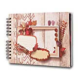 Best Book Of Christmas Crafts - FunSponsor Scrapbook Photo Album with Black Page 12x9 Review