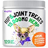 LEGITPET Hemp Hip & Joint Supplement for Dogs - 120 Soft Chews - Made in USA - Glucosamine for Dogs - Chondroitin - MSM - Turmeric - Hemp Seed Oil - Natural Pain Relief & Mobility