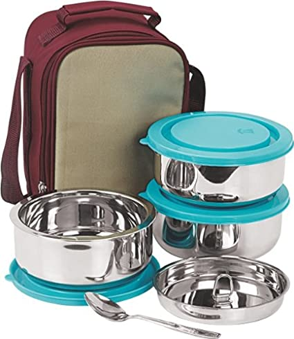 NanoNine SS075 Insulated 3pc Senior Lunch Box