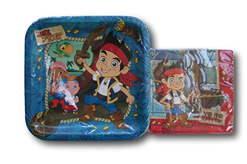 Jake and the Neverland Pirates Themed Party Supply Kit - Napkins and Plates (Jake The Neverland Pirate Party Supplies)