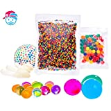 SENSORY WATER BEADS PACK [20,000 Small | 100 Large | 6 Balloons for Stress Ball] Squishy Water Gel Beads Pack for Sensory Kids - Best Tactile Sensory Toys for Kids with Autism, ADHD & Sensory Needs