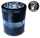 Gorilla Grinders Top Rated Premium 4 Piece Herb Grinder, Mega Crusher with pollen Catcher and Kief Scraper. Crafted from Aerospace Grade Aluminum (XL 3.2