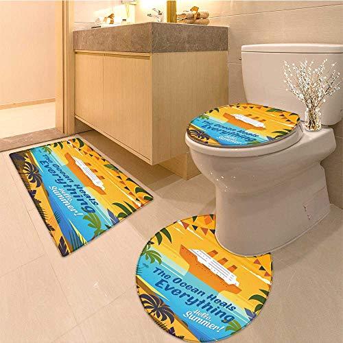 MikiDa Cushion Non-slip Toilet Mat hello summer summertime