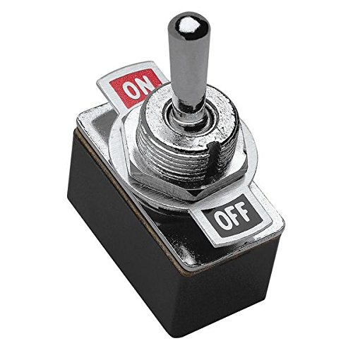 SPST Toggle Switch with On//Off Label Plate