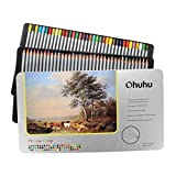 Ohuhu [Tin Case] 72-color Colored Pencils/ Drawing Pencils for Sketch/Coloring Book(Not Included)
