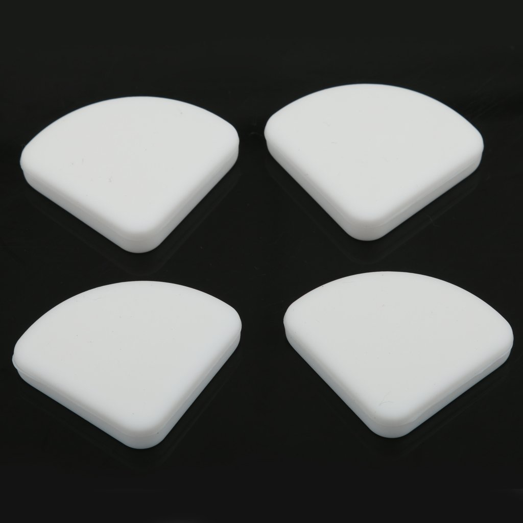 3 x 3cm White 4x Baby Glass Table Desk Edge Guard Protector Bumpers Soft Corners Cushion