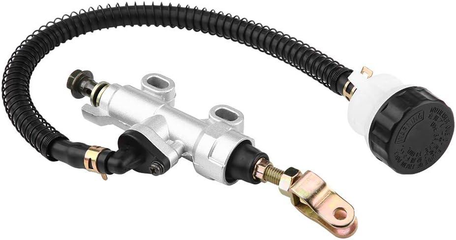 Keenso Universial Hinterer Fußbremszylinder Hauptbremszylinder Hinterradpumpe Für Motorrad Dirt Bike Atv Weiß Auto