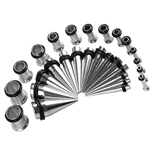 BodyJ4You Gauges Stainless Tunnels Stretching