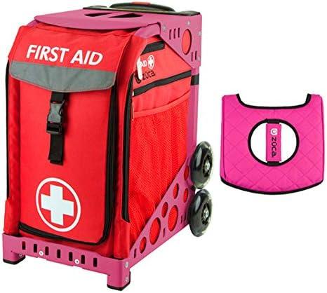 Z?CA INC Zuca スポーツバッグ – ギフトの応急処置に ブラック/ピンクシートカバー (ピンクフレーム)