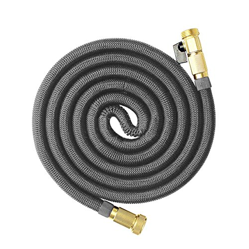 ablevel 100ft garden hose expandable water hose flexible leak proof with solid brass fittings. Black Bedroom Furniture Sets. Home Design Ideas